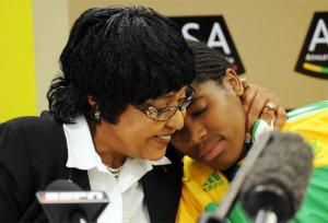Winnie Mandela and Caster Semenya